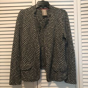 Anthro Dolan knit herringbone blazer